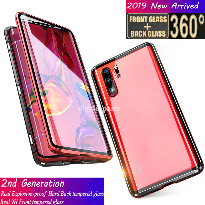 più recente 2accf 8ded9 Details about Huawei P20 Mate 20 P30/Pro/Lite Magnetic Adsorption 360°  Protective Cover Case