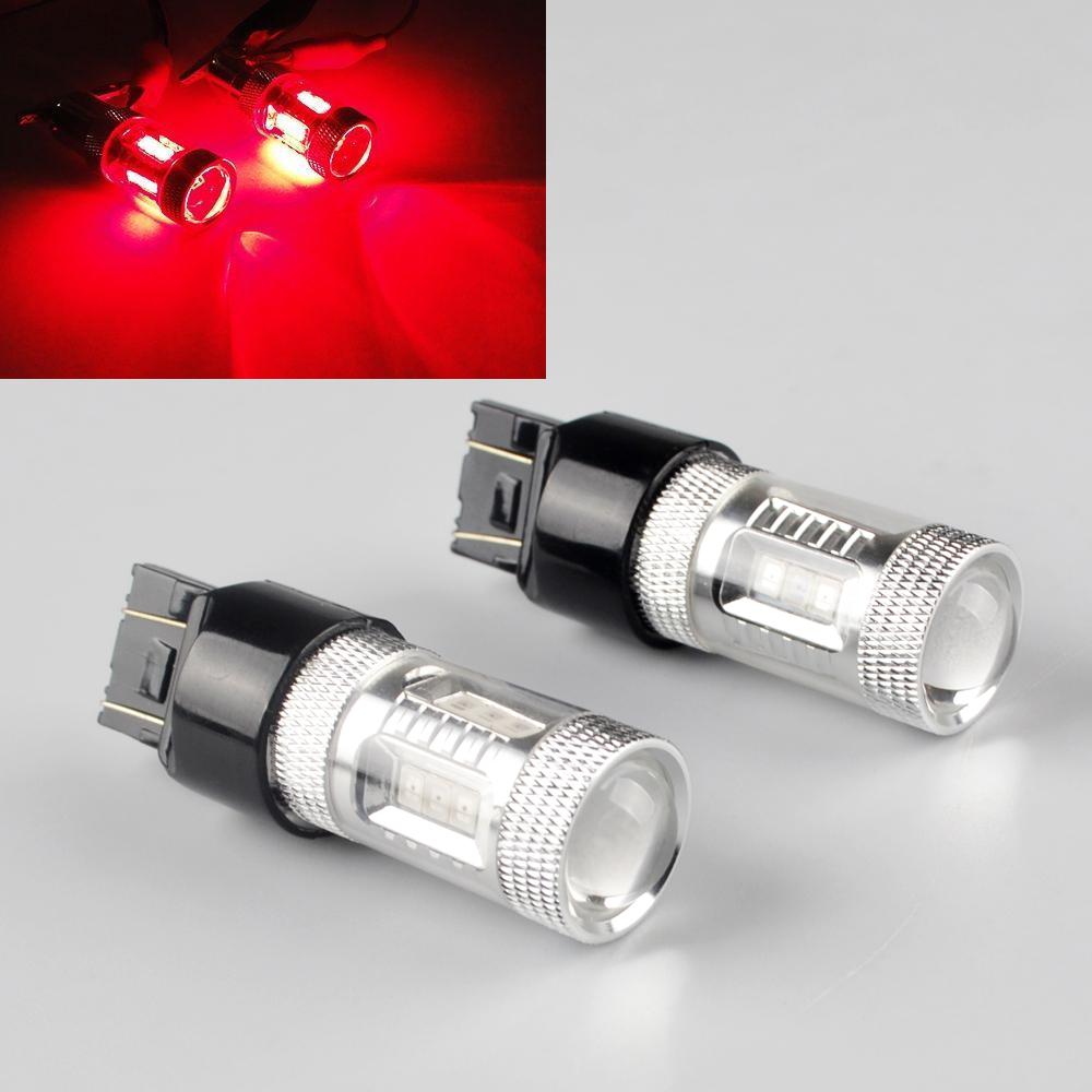 2x 580 W21//5W 7443 dual filament LED SAMSUNG Tail Brake Light Turn signal light