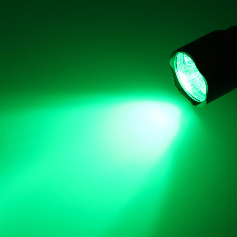 "10000LM 3x XPE Green LED Light Flashlight Remote Switch 1/"" Gun Mount Torch A"