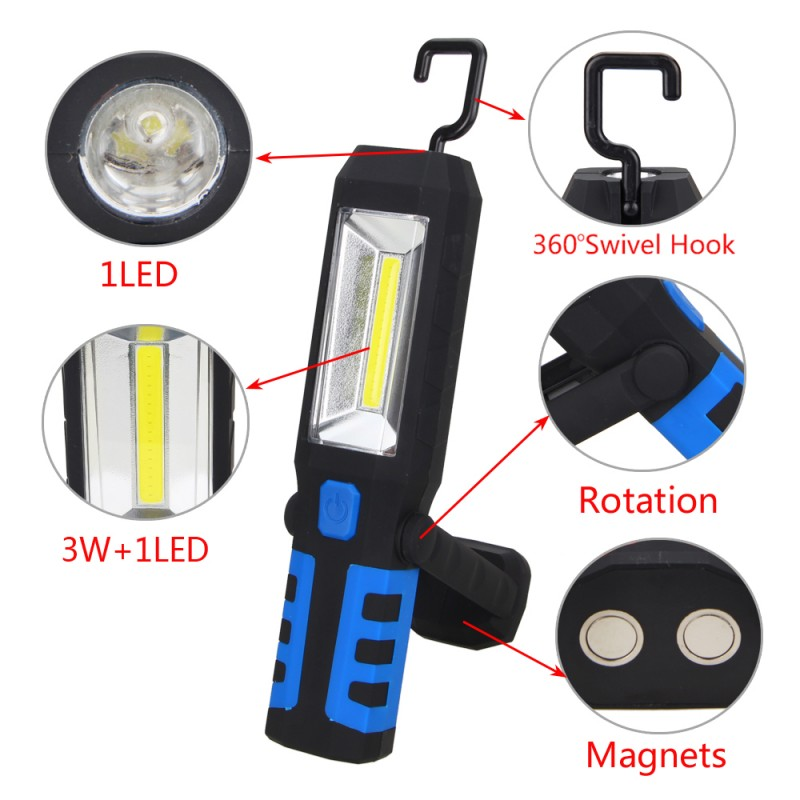 COB LED Magnetische Work Light Auto Garage Mechaniker Rechargeable ...
