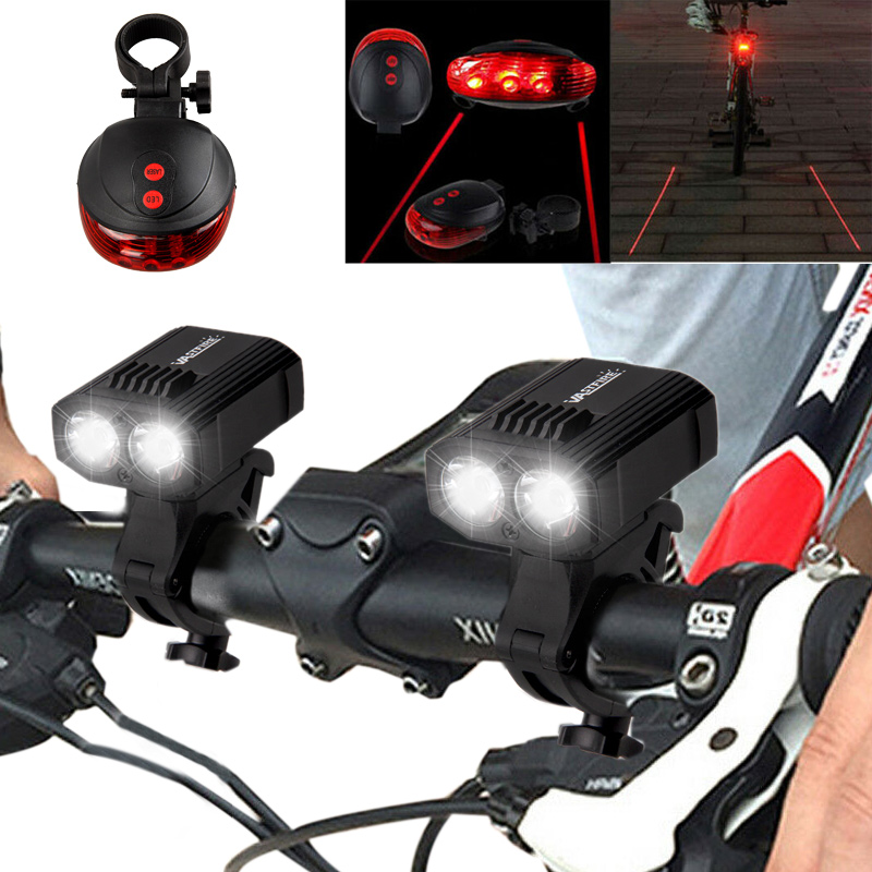 Reboos USB Rechargeable LED Bright Bike Front Headlight Head Lamp Light cycle