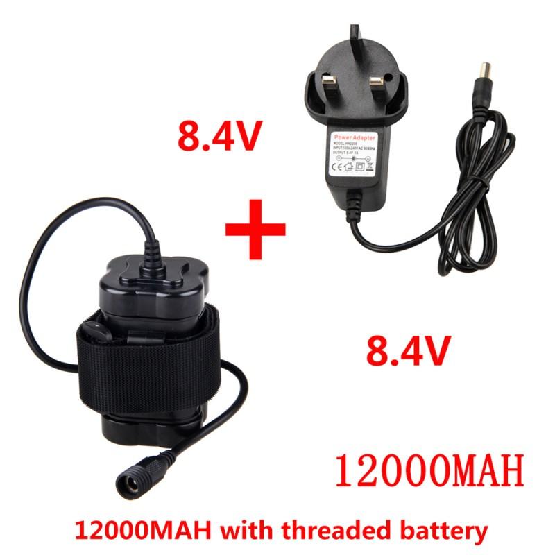 Recargable 8.4 V 12000mAh 4x 18650 Batería para Bicicleta Luz Impermeable .