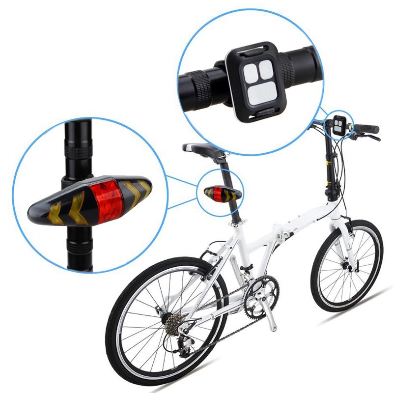 led mtb fahrrad blinker r cklicht usb remote fernbedienung. Black Bedroom Furniture Sets. Home Design Ideas