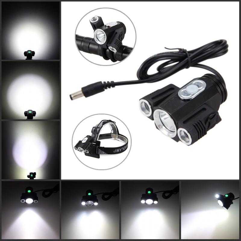 4.2v 12000LM 3x XM-L T6 LED Adjust angle Front Bicycle light Bike Lamp Headlight
