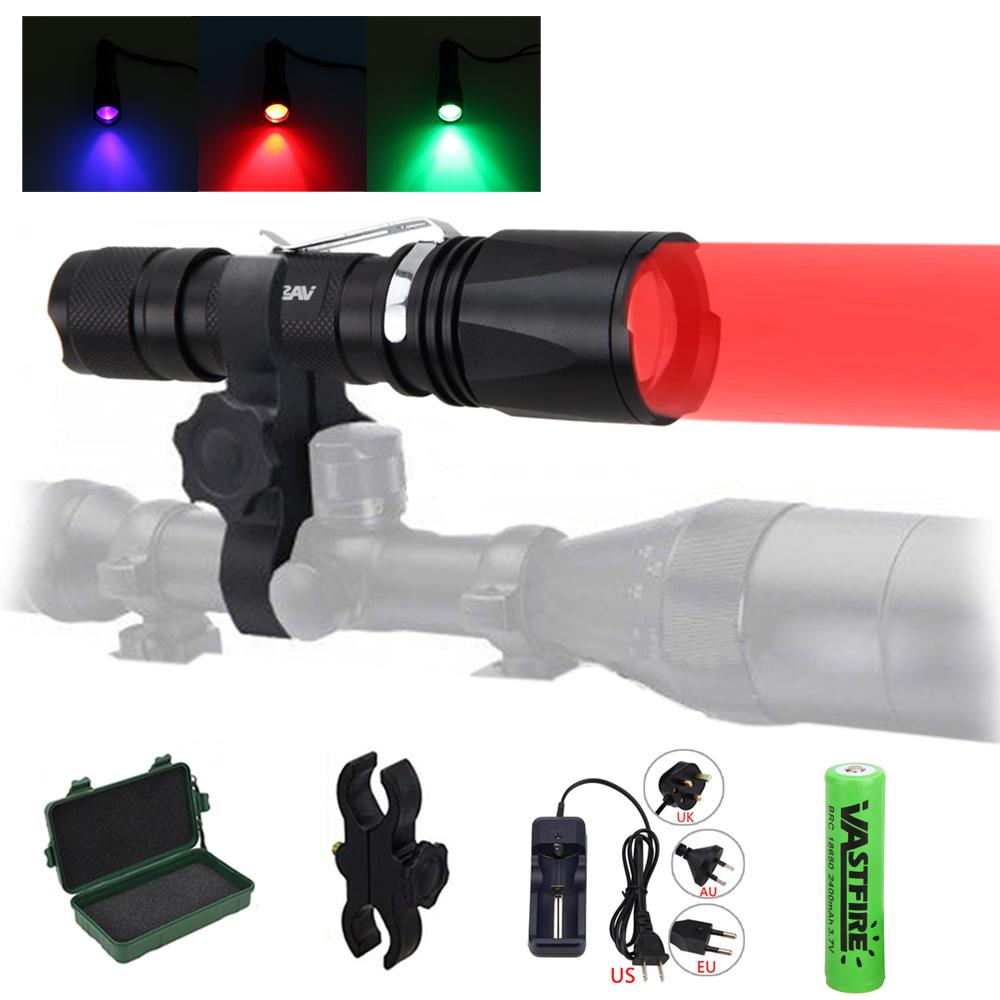 C10 Predator Long Range Green LED Night Hunting Flashlight Light Coyote Hog Fox