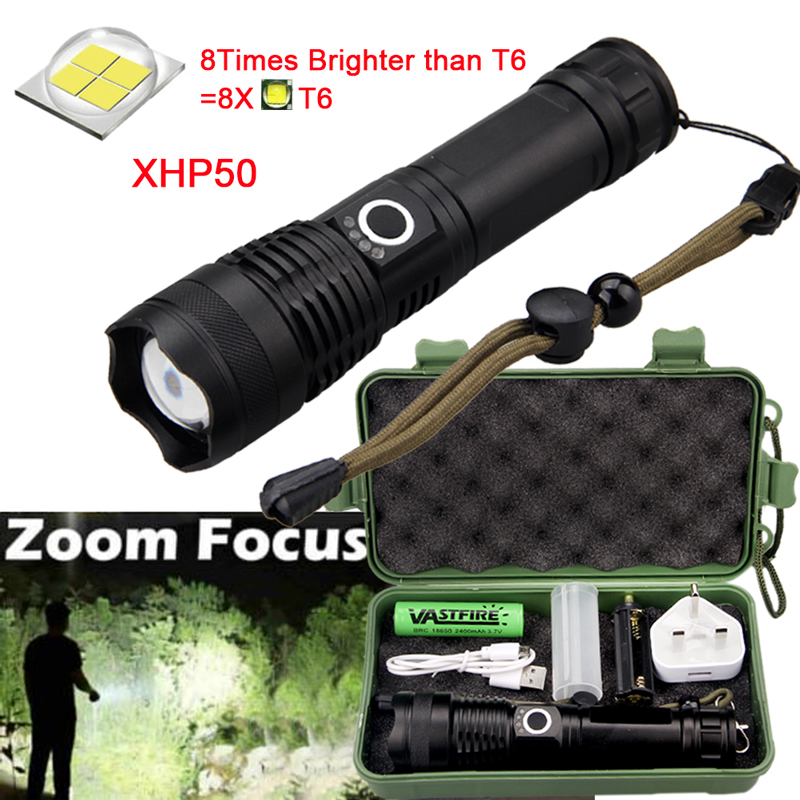 900000LM T6 LED Rechargeable High Power Torch Flashlight Lamps Light+Charger-UK~