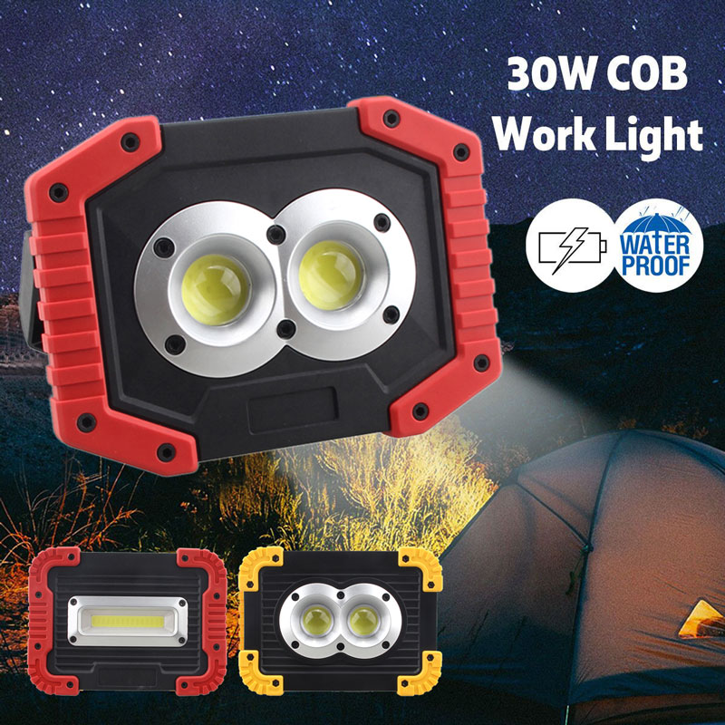 20W Rechargeable LED COB Light Camping Security Floodlight Emergency Lamp UK