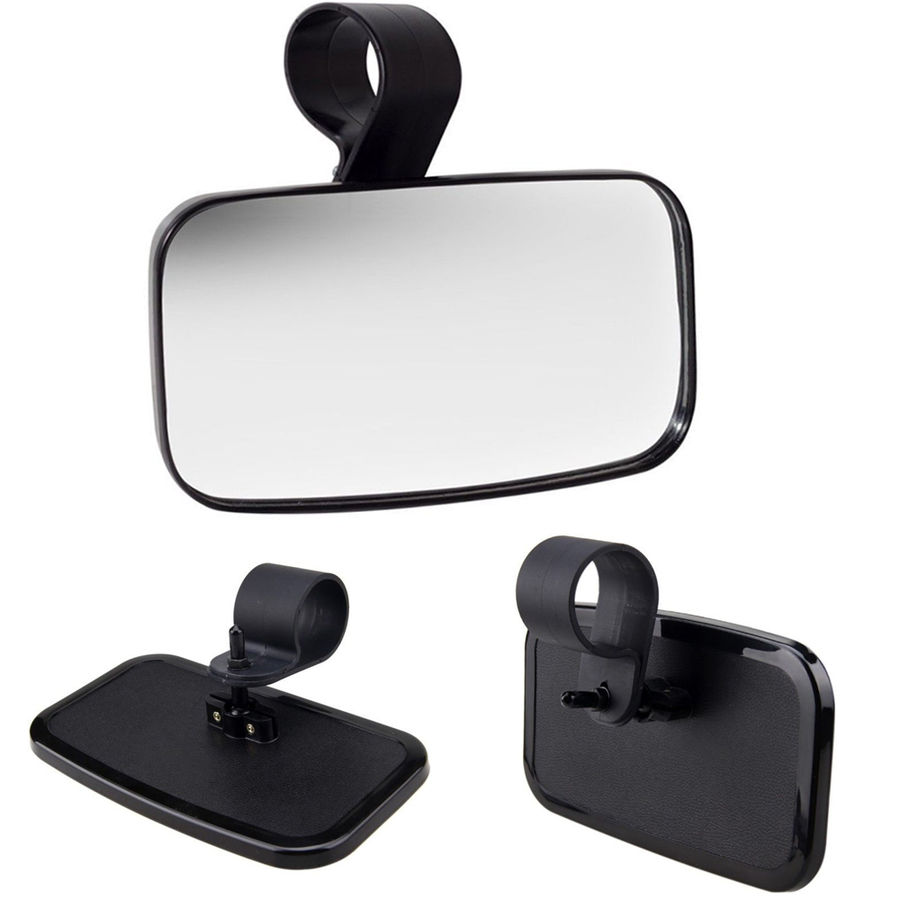 Utv Rear View Mirror >> Details About Utv Quad Golf Cart Buggy Center Wide Rear View Mirror High Impact W Mount Set