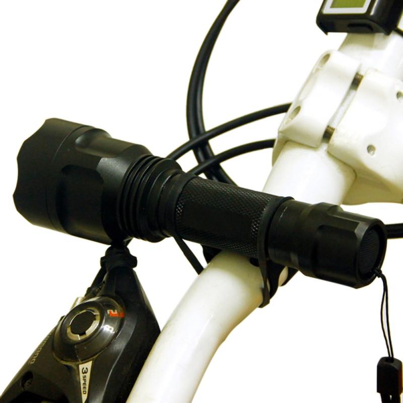 Bicycle Handlebar Light Holder Silicone Strap Bike Bandages Fixing Elastic
