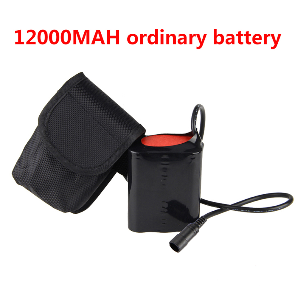 CH For Head Bike Bicycle Light Rechargeable 8.4V 12000mAh 4x18650 Battery Pack