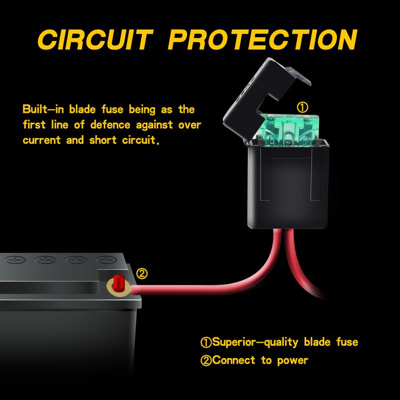 40A 14V Auto Kabelbaum 300W LED Arbeitsscheinwerfer on/off Schalter ...