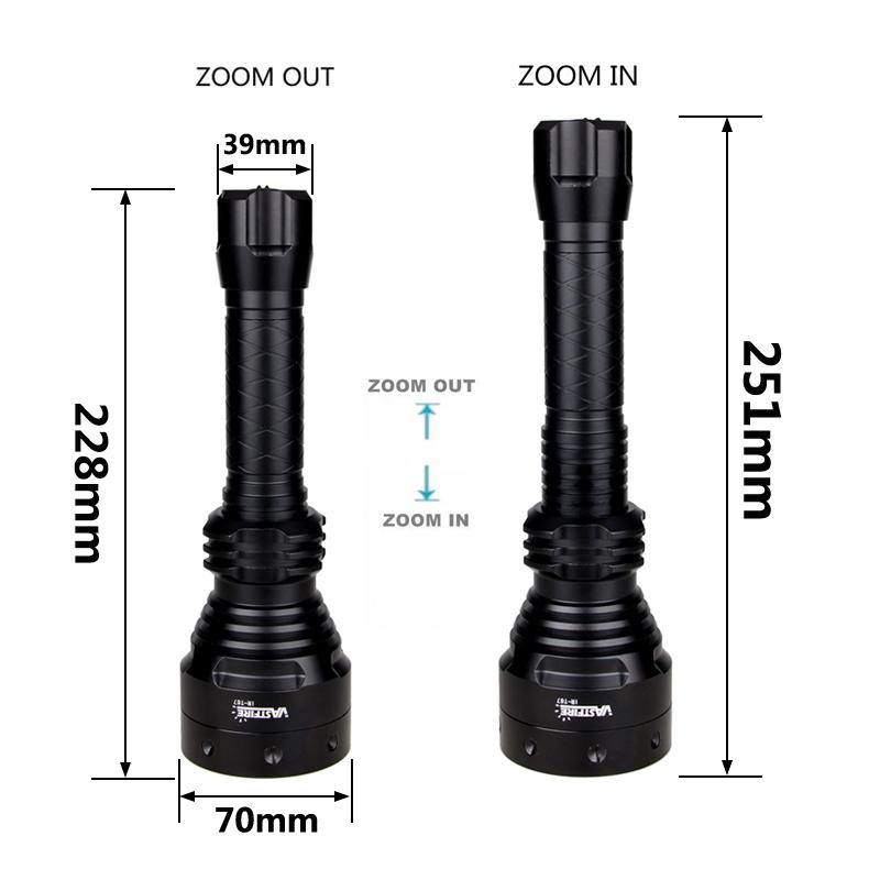 SET INFRAROT IR STRAHLER Osram LED 850nm Zoom für NACHTSICHTGERÄT Taschenlampe