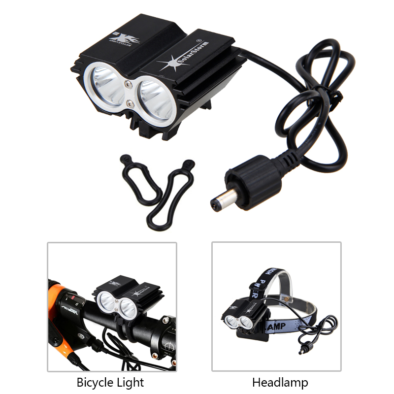 Rechargerable 20000Lm 3xT6 LED Cycling Bicycle Bike Front Headlight Lamp Battery