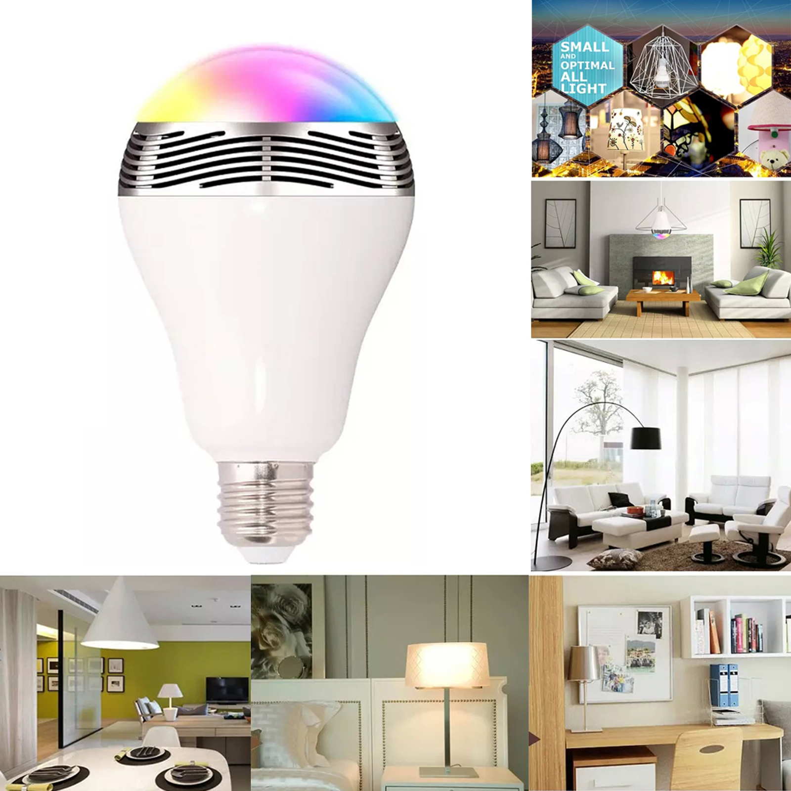 Smart Bunte LED Birne Lichter Wireless Bluetooth Musik Disco E27 ...