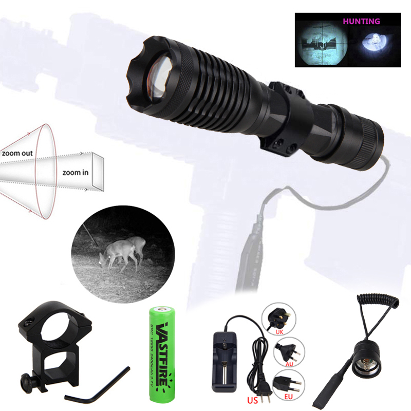 Tactical Infrared IR 850nm Night Vision LED Flashlight Zoom Torch Hunting Light