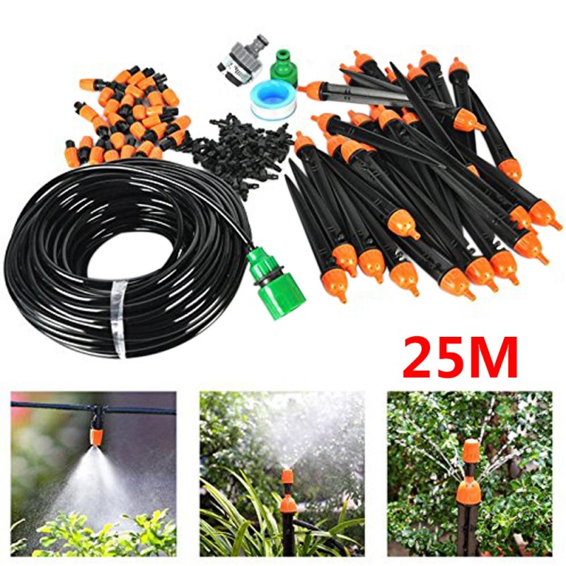 Automatic Timer+30M Water IRRIGATION Drip Watering System for Garden Plant DIY