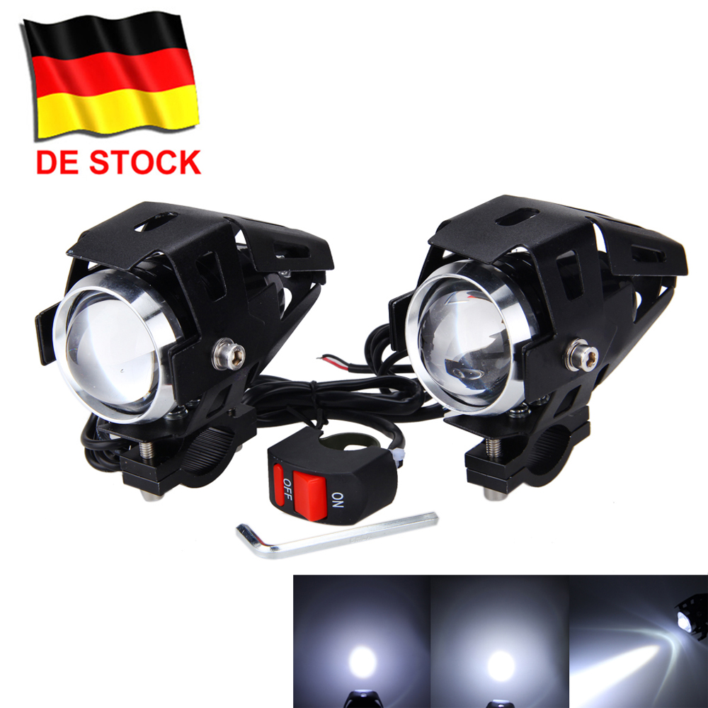 1 paar u5 led motorrad lampe licht zusatzscheinwerfer. Black Bedroom Furniture Sets. Home Design Ideas