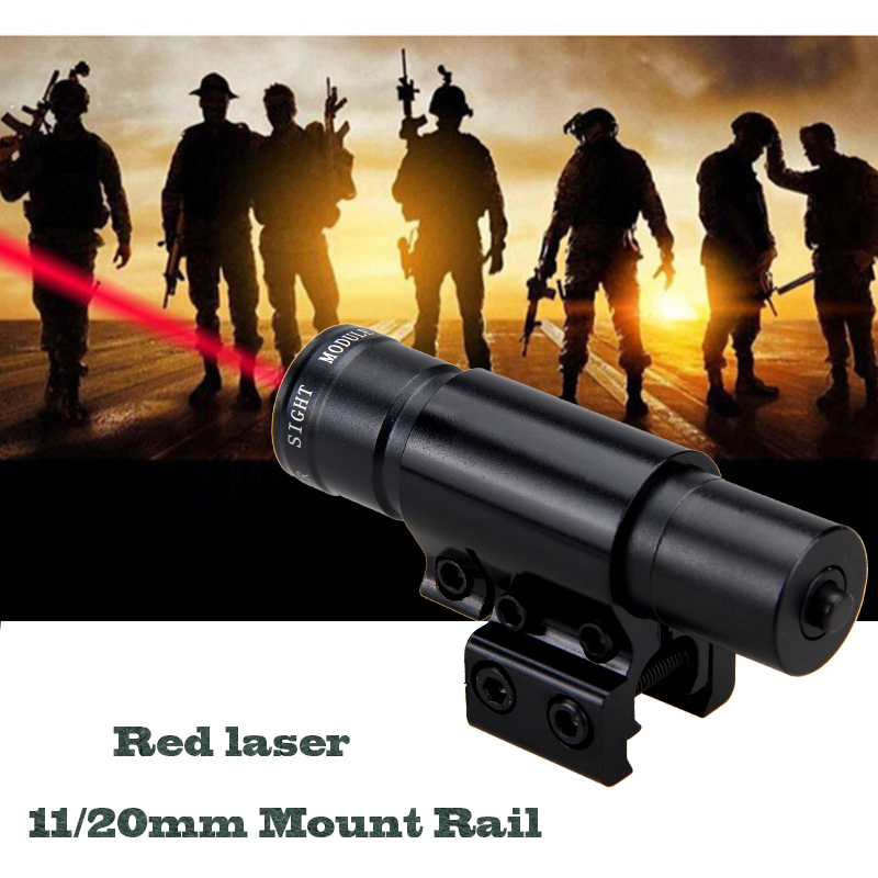 Details about Air Gun Rifle Pistol Scope Hunting Red Dot Laser Sight  11/20mm Rail Mount Hot C