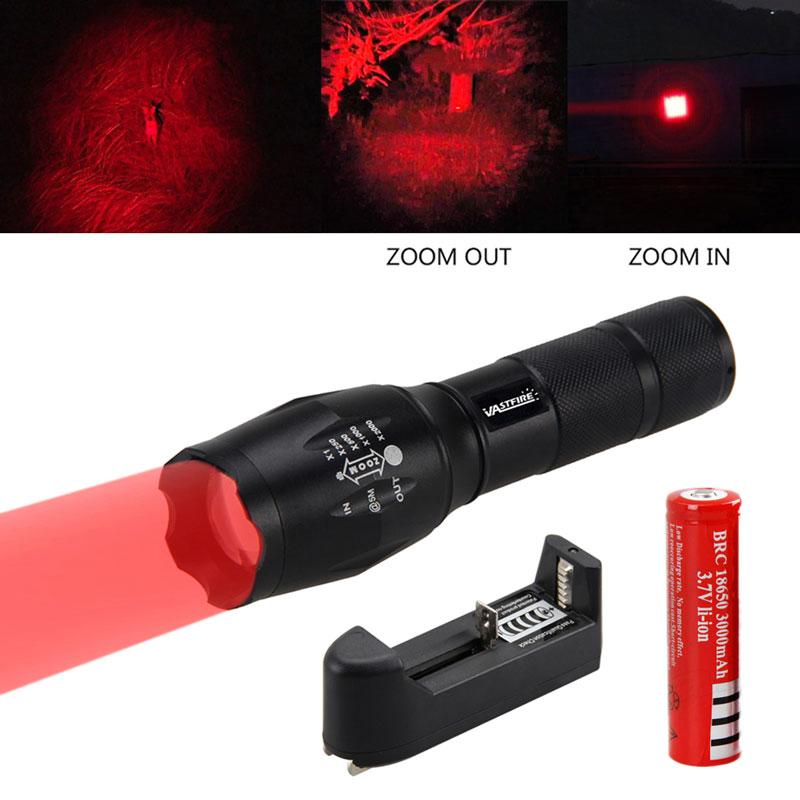 500Yard Zoomable Green XPE LED Flashlight Predator Varmint Hog Hunting Spotlight