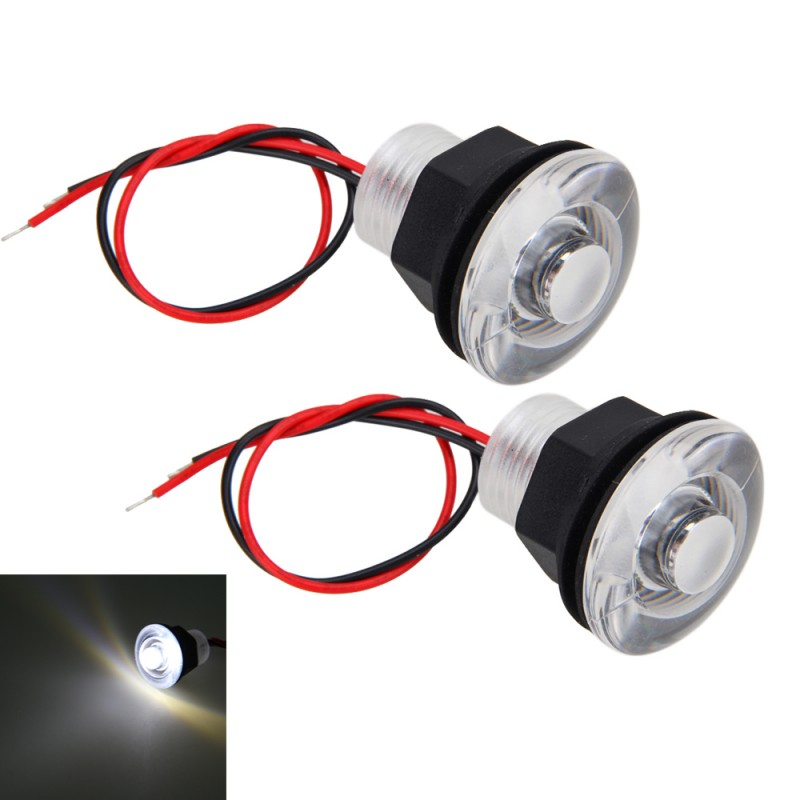 2x 38mm 12v Waterproof Led Courtesy Deck Light Marine Car