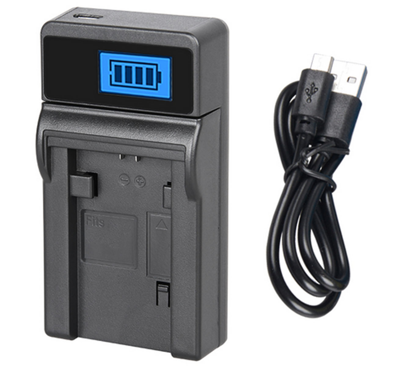 LCD USB Travel Battery Charger for Sony DCR-HC14 DCR-HC14E DCR-HC15E Handycam Camcorder DCR-HC15