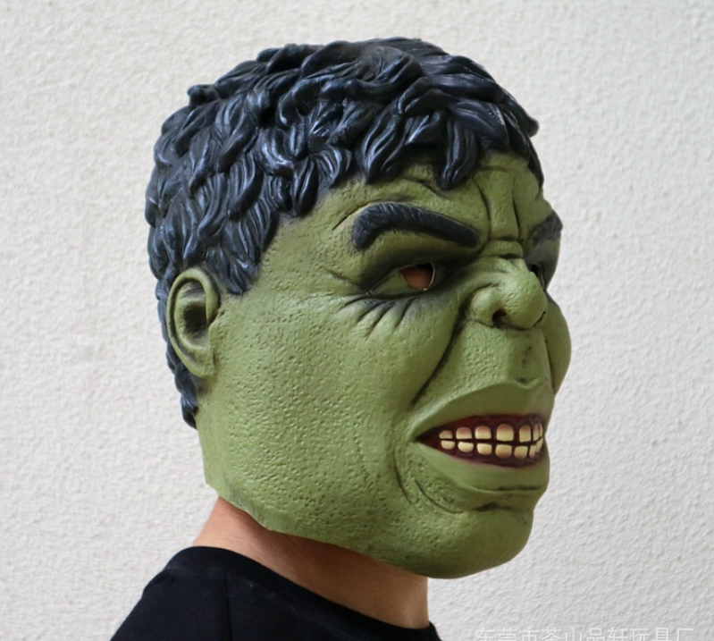 Deluxe Adult Incredible Hulk Latex Hulk Halloween Full Head Mask Birthday Gift