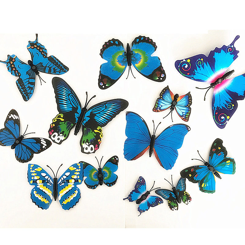 12pcs 3d butterfly sticker wall stickers decals room