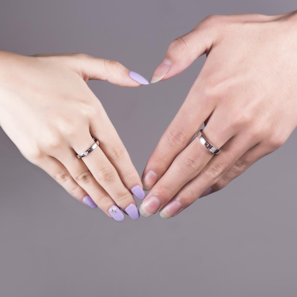 New Jewelry 18K White Gold Diamonds Engagement Wedding Band Love ...