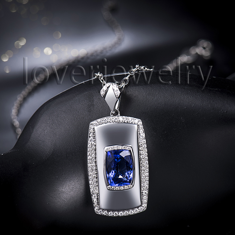tanzanite com cool mens solid from pendants reliable buy diamond store pendant aliexpress men cut cushion product with gold natural white necklace
