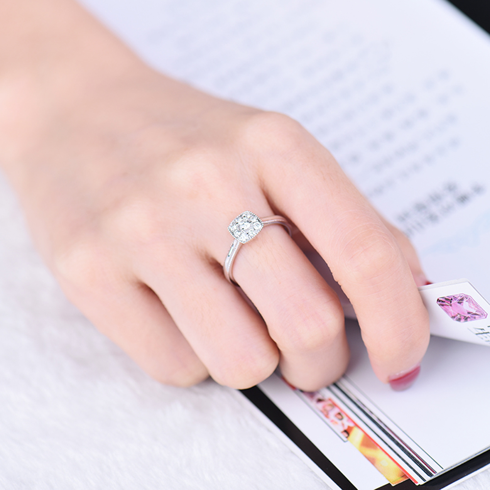 Forever Love Jewelry 18Kt White Gold Natural Diamonds Wedding ...