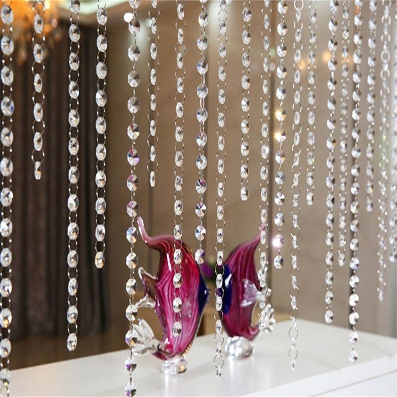 Hot DIy 33 FT Acrylic Crystal Bead Garland Chandelier Hanging Wedding Decoration