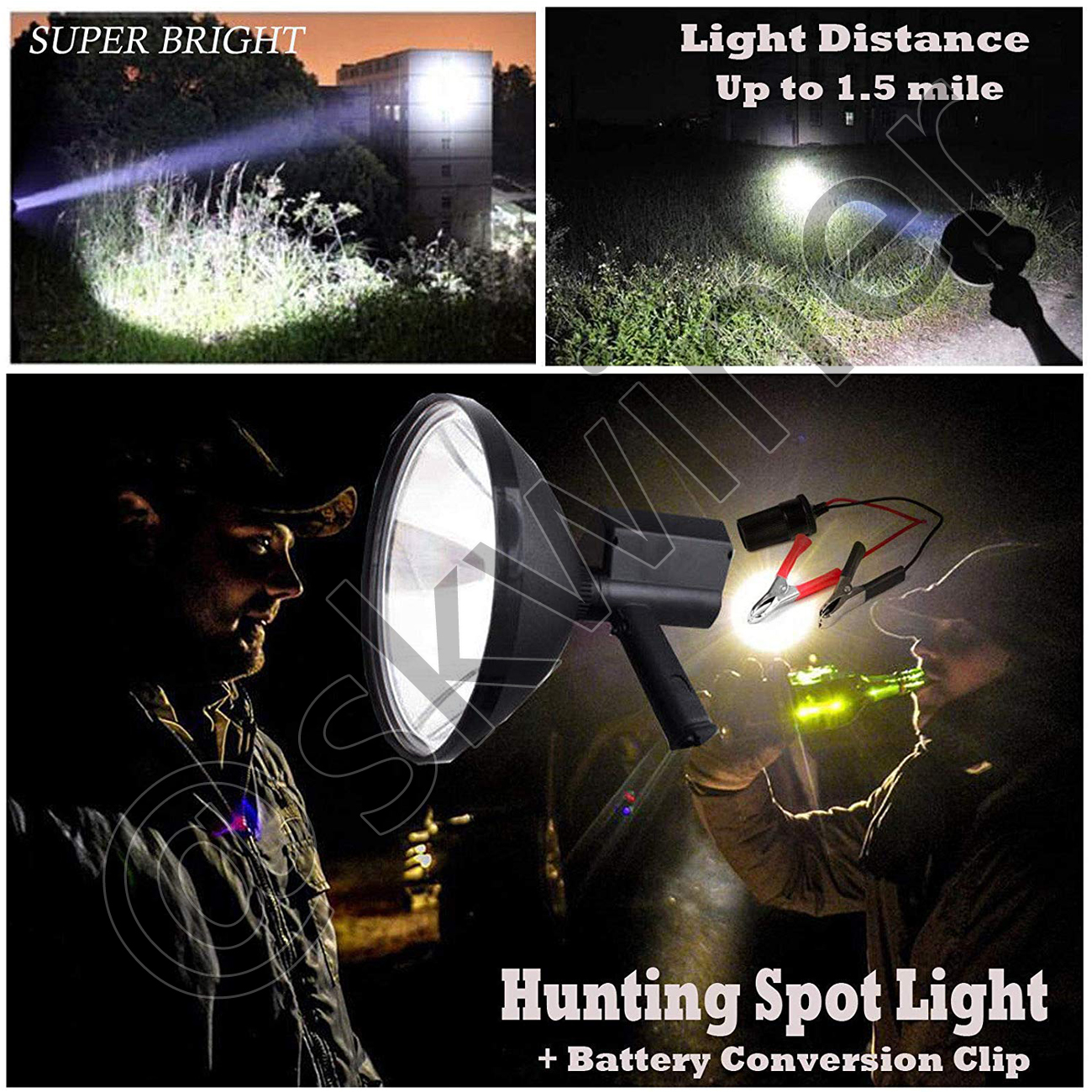 Spotlight Hand Held 150W Xenon Camping Hunting Boating Work Offroad Spot Light