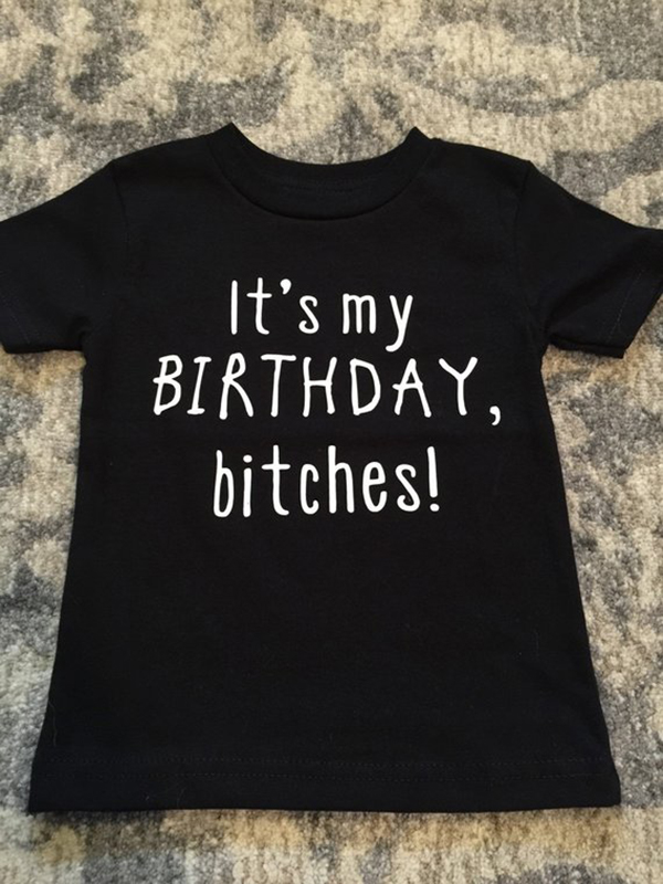 802e516e3 Birthday Girl T Shirt Happy Birthday Tee Tops Birthday Party Shirts