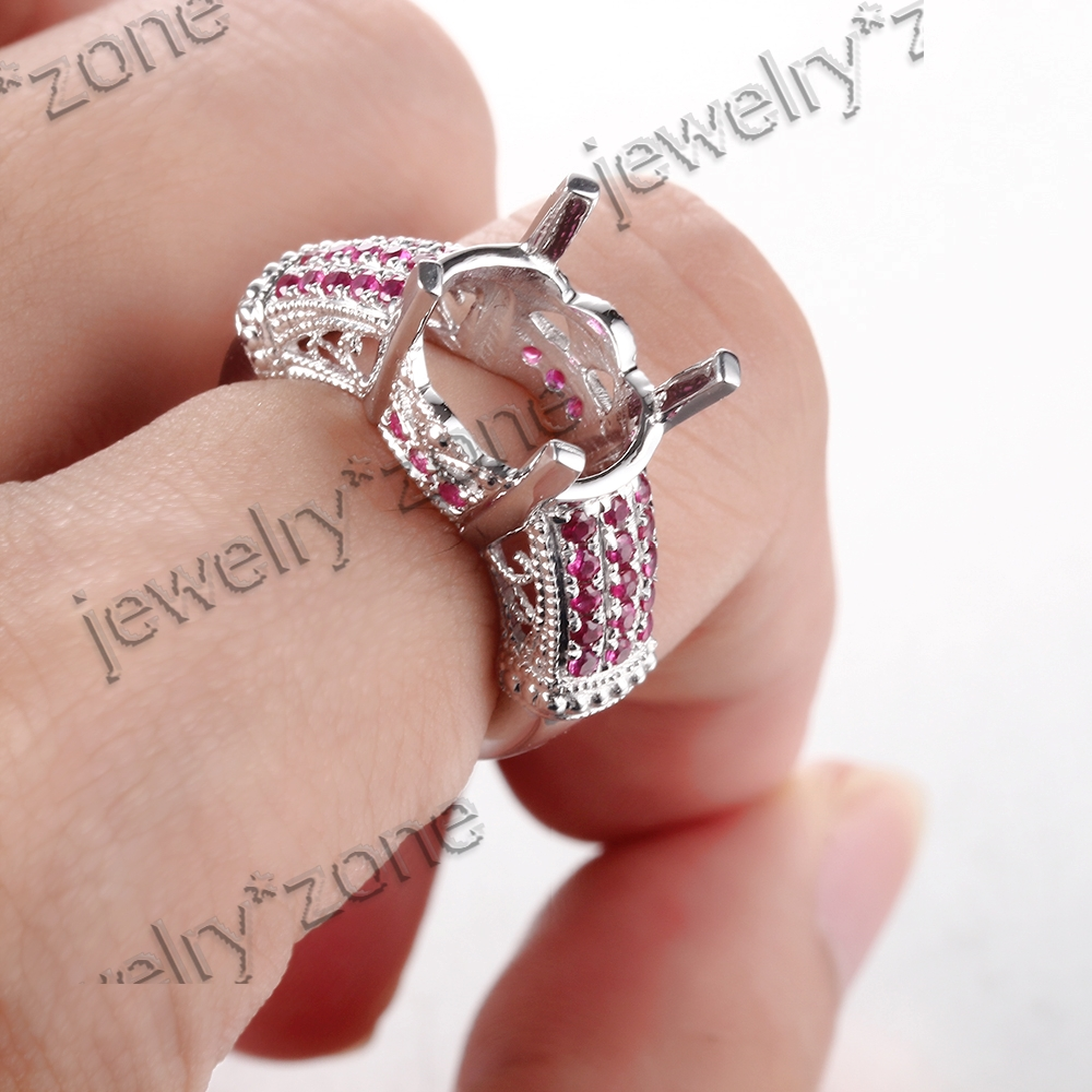 Women\'s Filigree Unbelieveale10K White Gold .6ct Rubies Engagement ...