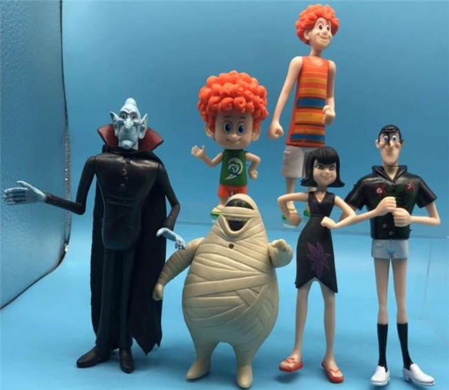 6PC Hotel Transylvania 3 Johnny Dennis Mavis Frank Action Figure Toy Doll Gift