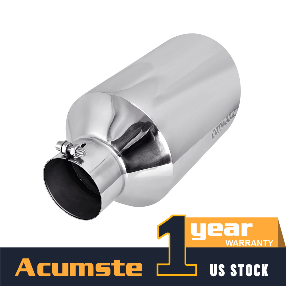 5 Inch Inlet Exhaust Tip 6 Inch Outlet 15 Inch Long Tailpipe Universal For Trucks Car Stainless Steel Bolt-On