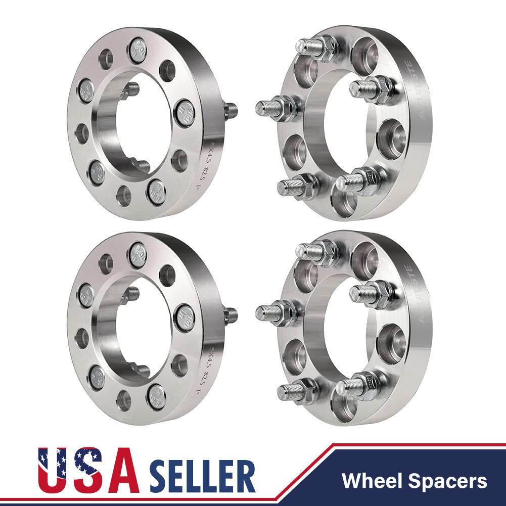 "4 PCS 1/"" Wheel Spacers 5x4.5 Jeep Ford Lincoln Mercury 1//2/"" Studs 5 Lug Billet"