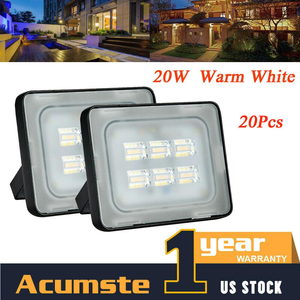 1-20Pcs 10W 12V LED Flood Light Cool White Outdoor Garden Spot Lamp Waterproof