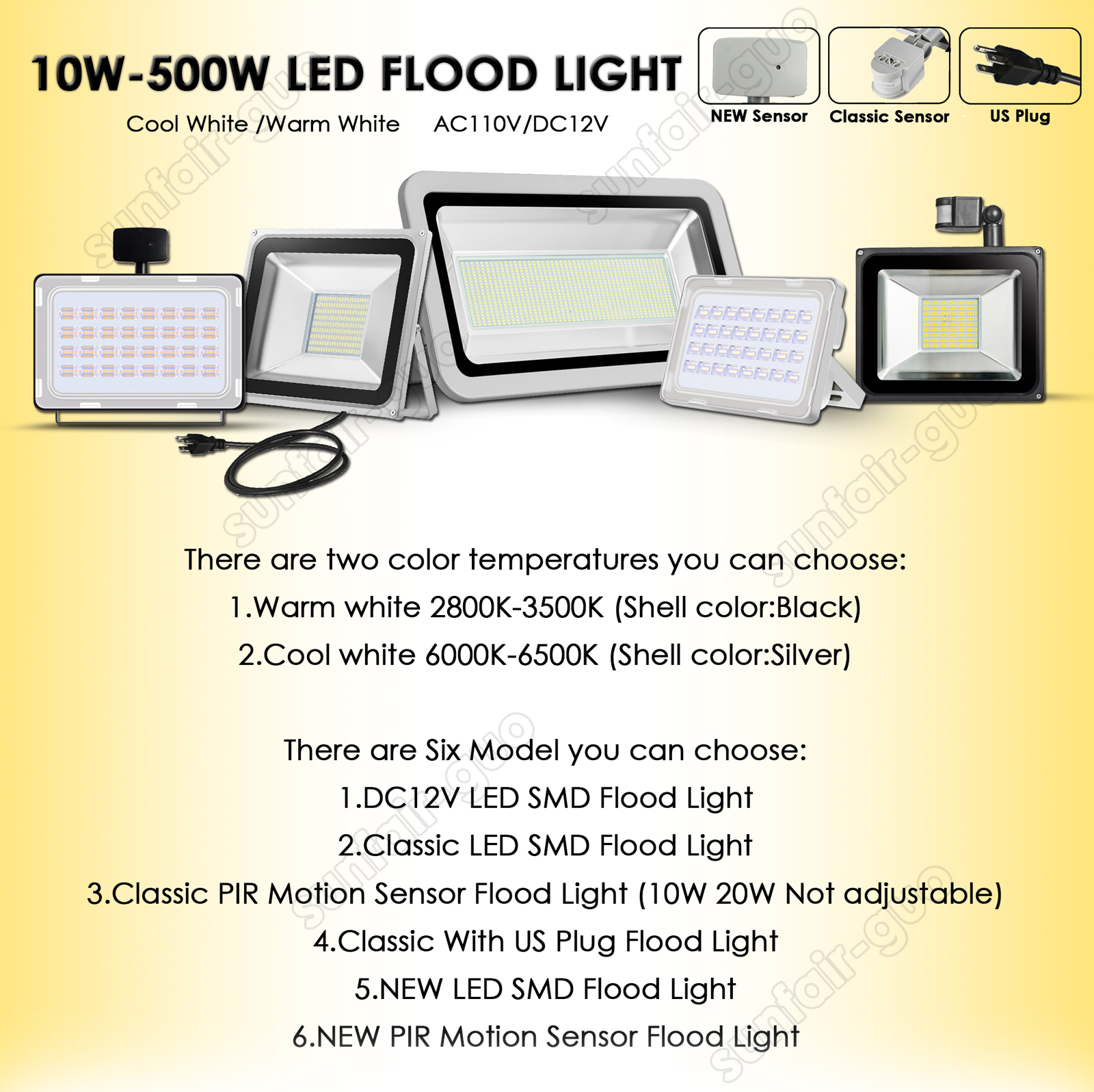 50w Led Flood Light Cool White Lamp Outdoor Garden Yard Spotlights Rondaful Motion Wiring Diagram