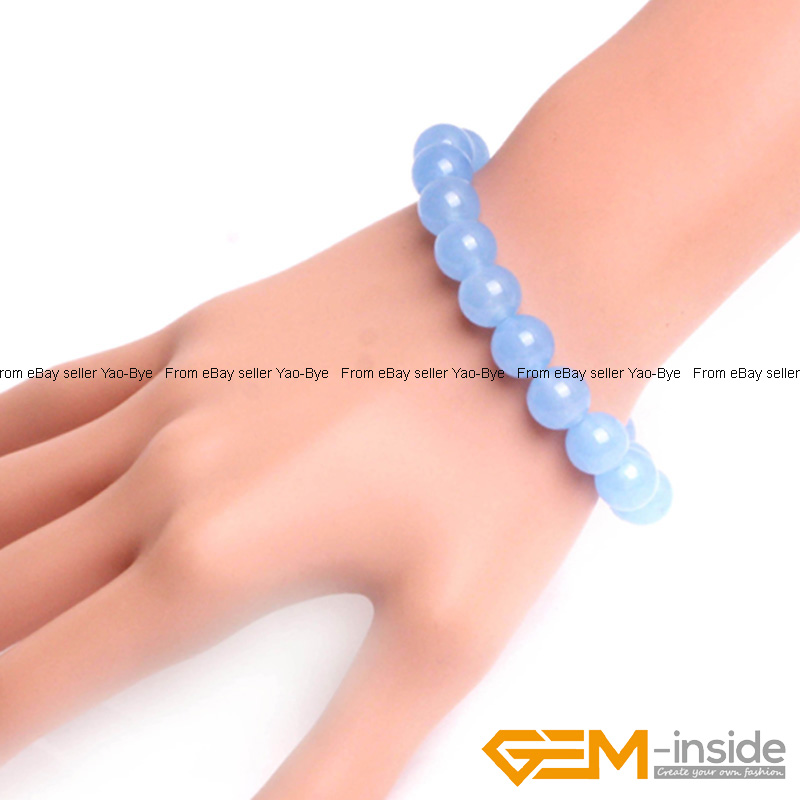 Wholesale-Lot-Handmade-Fashion-Jewelry-Assorted-Colors-Beaded-Jade-Bracelet-7-5-034 thumbnail 72