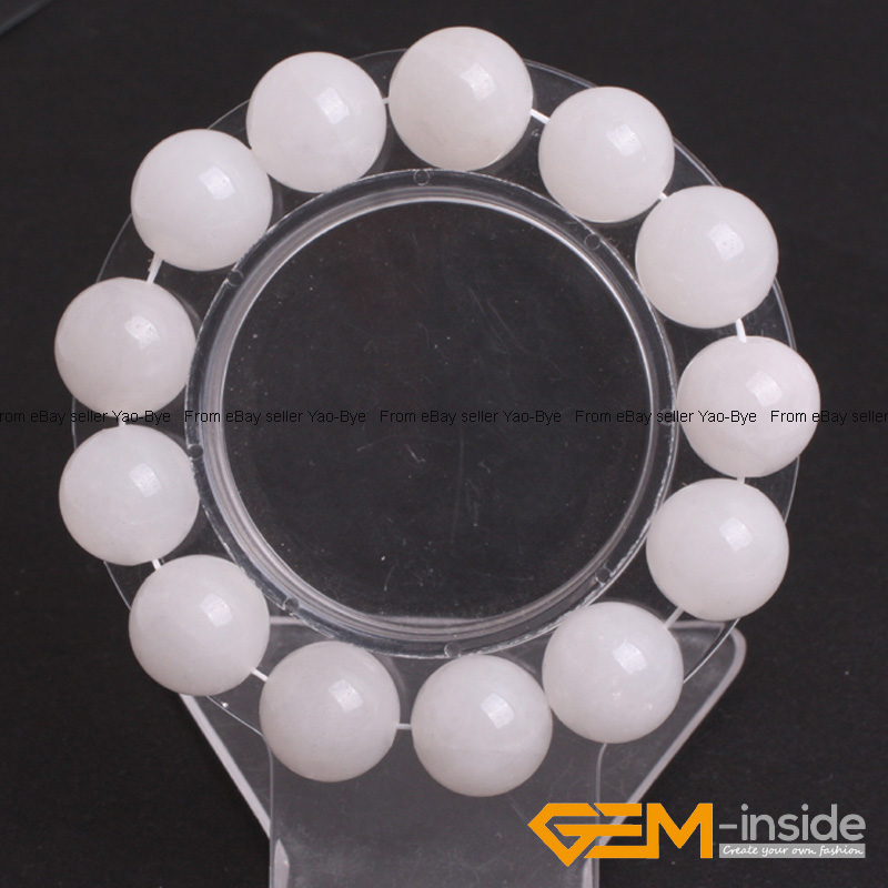 Wholesale-Lot-Handmade-Fashion-Jewelry-Assorted-Colors-Beaded-Jade-Bracelet-7-5-034 thumbnail 97