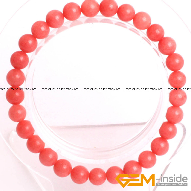 Wholesale-Lot-Handmade-Fashion-Jewelry-Assorted-Colors-Beaded-Jade-Bracelet-7-5-034 thumbnail 13