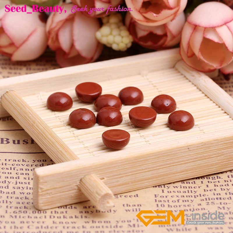 8-18mm Round Red Jasper CAB Cabochon Beads For Jewelry Ring Pendant Making 5Pcs