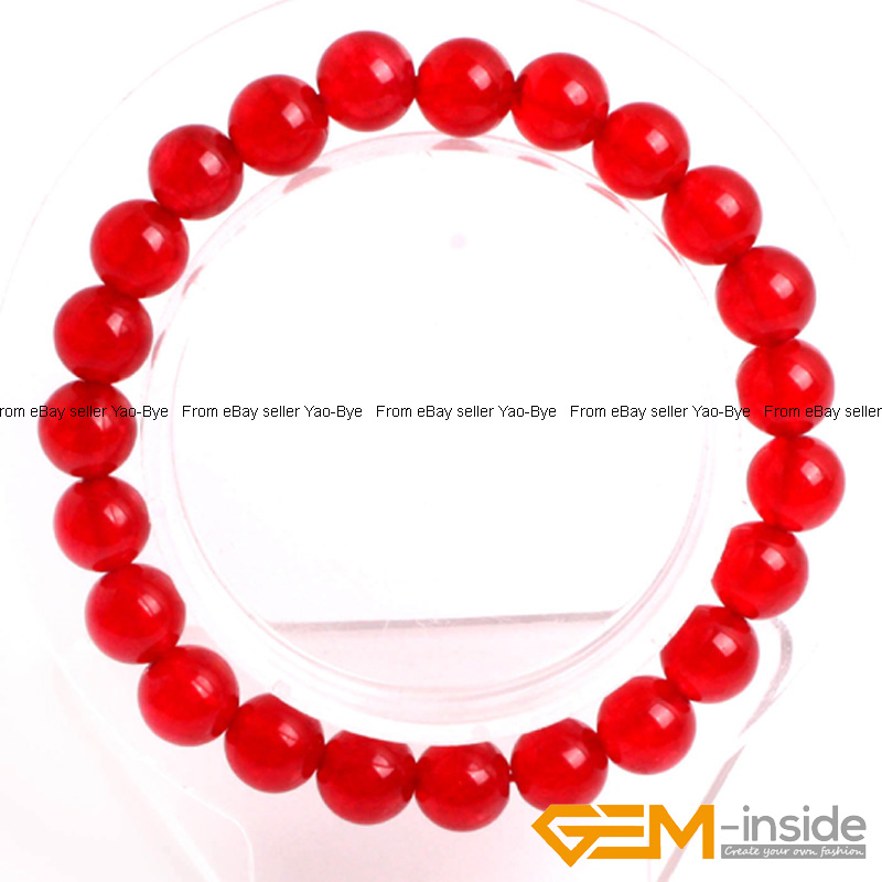 Wholesale-Lot-Handmade-Fashion-Jewelry-Assorted-Colors-Beaded-Jade-Bracelet-7-5-034 thumbnail 18
