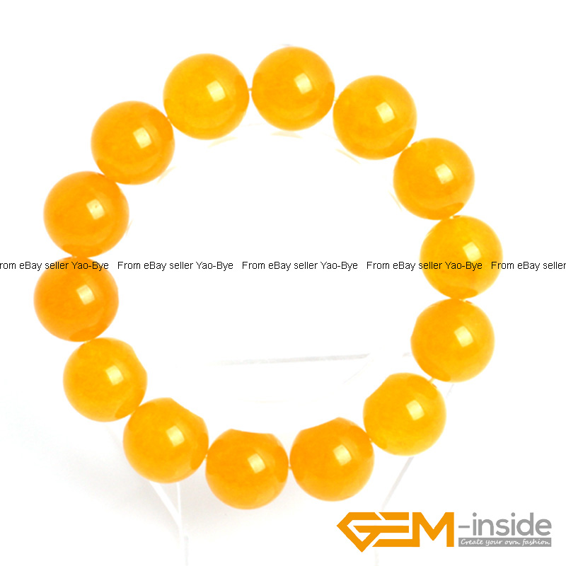 Wholesale-Lot-Handmade-Fashion-Jewelry-Assorted-Colors-Beaded-Jade-Bracelet-7-5-034 thumbnail 86