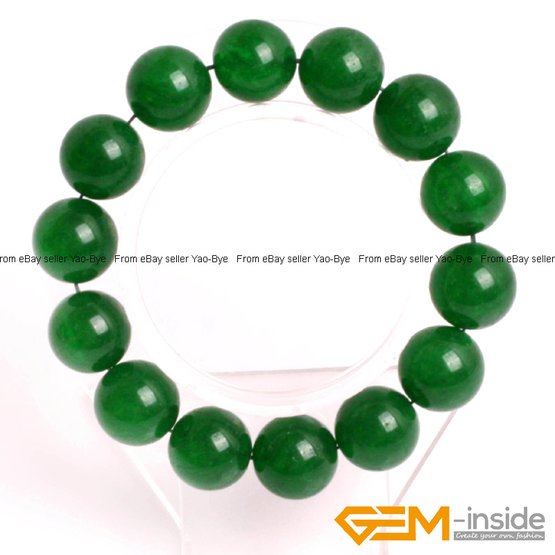 Wholesale-Lot-Handmade-Fashion-Jewelry-Assorted-Colors-Beaded-Jade-Bracelet-7-5-034 thumbnail 33