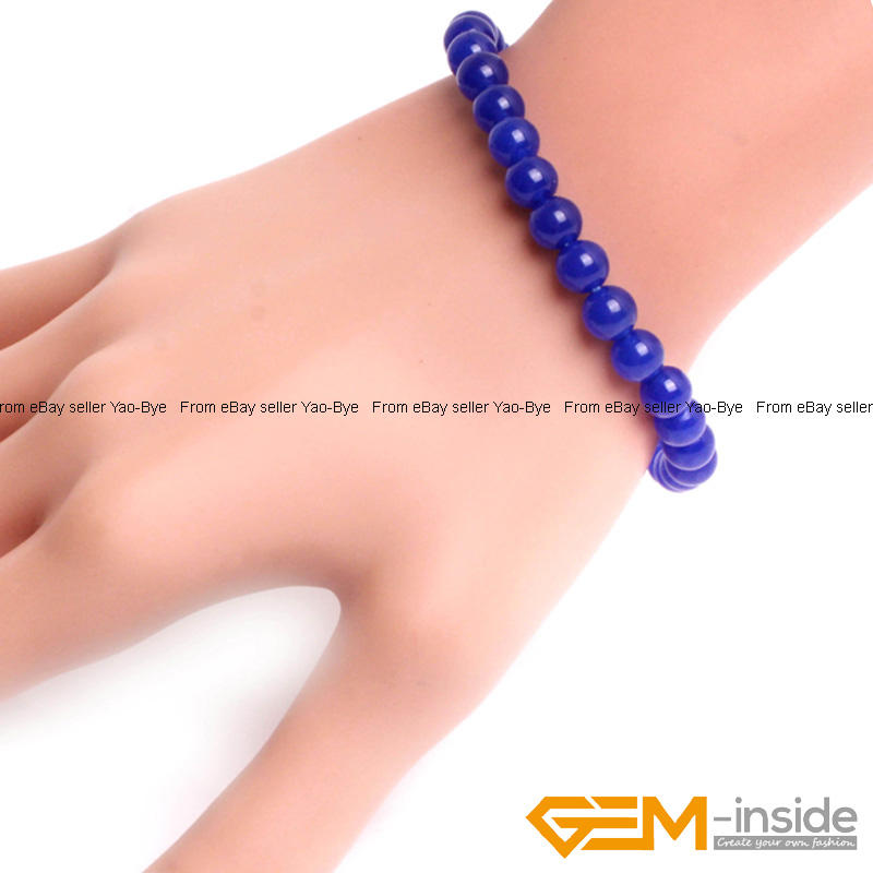 Wholesale-Lot-Handmade-Fashion-Jewelry-Assorted-Colors-Beaded-Jade-Bracelet-7-5-034 thumbnail 57