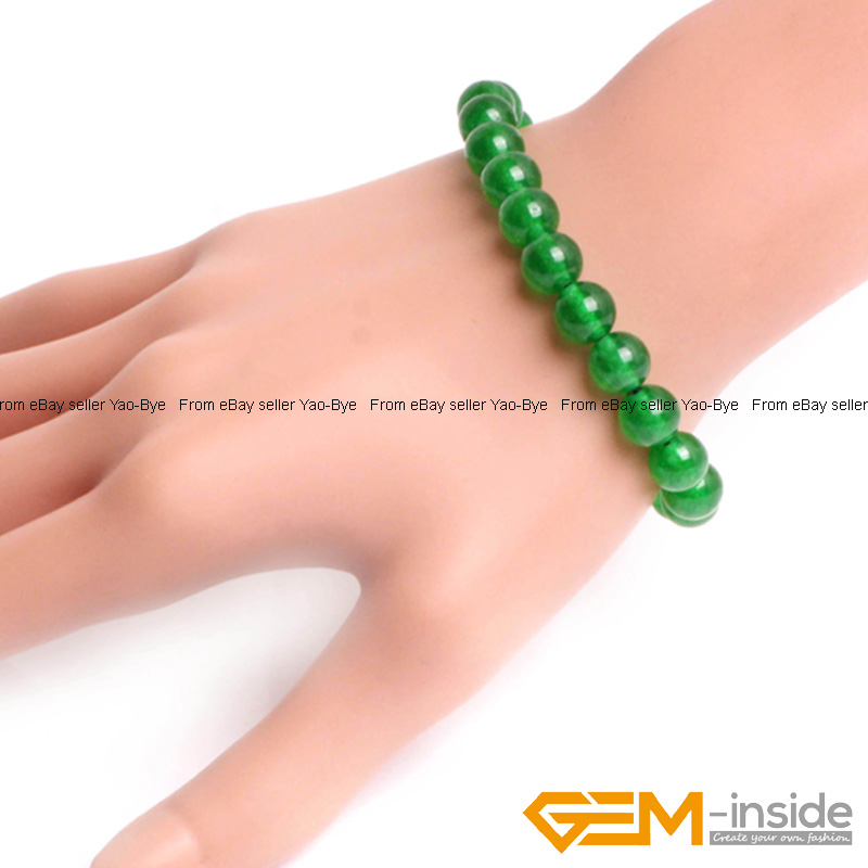 Wholesale-Lot-Handmade-Fashion-Jewelry-Assorted-Colors-Beaded-Jade-Bracelet-7-5-034 thumbnail 28