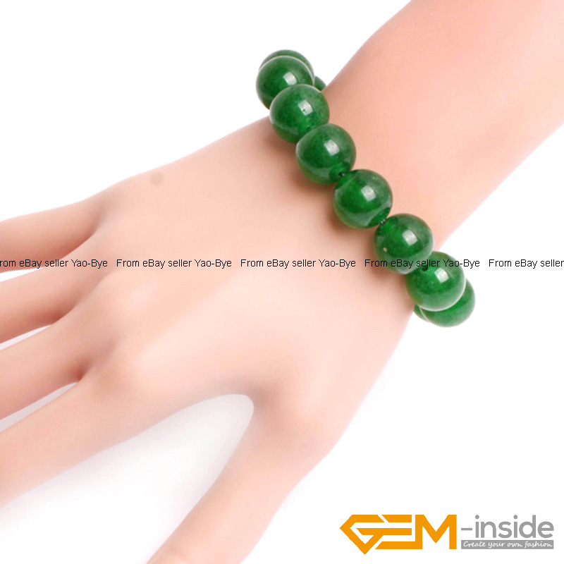 Wholesale-Lot-Handmade-Fashion-Jewelry-Assorted-Colors-Beaded-Jade-Bracelet-7-5-034 thumbnail 34