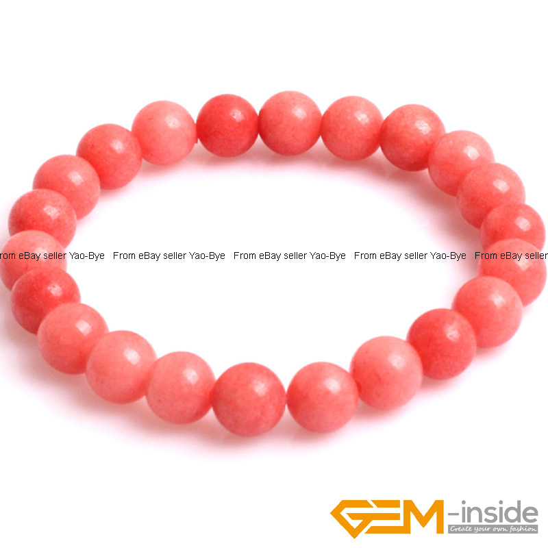Wholesale-Lot-Handmade-Fashion-Jewelry-Assorted-Colors-Beaded-Jade-Bracelet-7-5-034 thumbnail 14